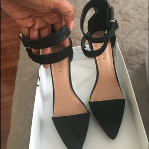 Renvy you Black Suede Ankle Strap Formal 👠